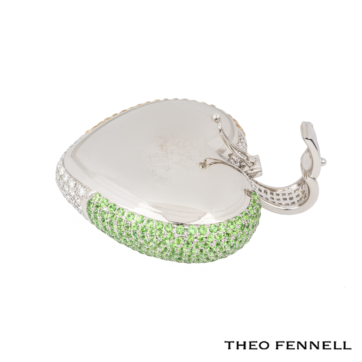 Theo Fennell White Gold Heart Pendant